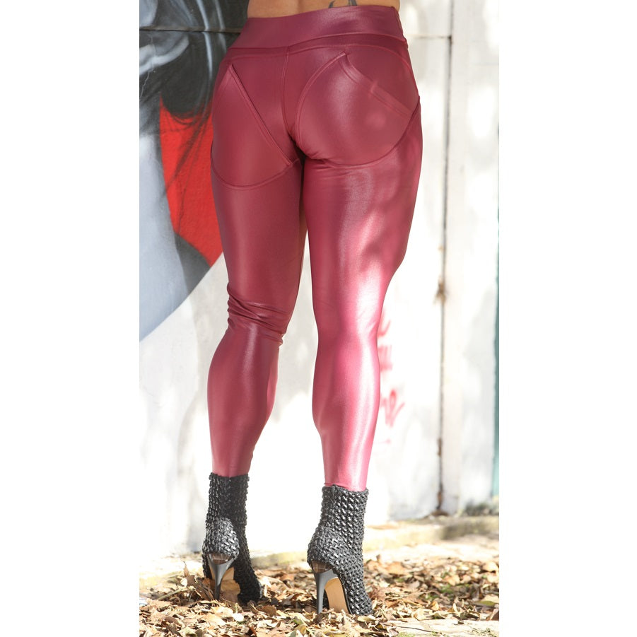 Wine Disco Leggings with pockets