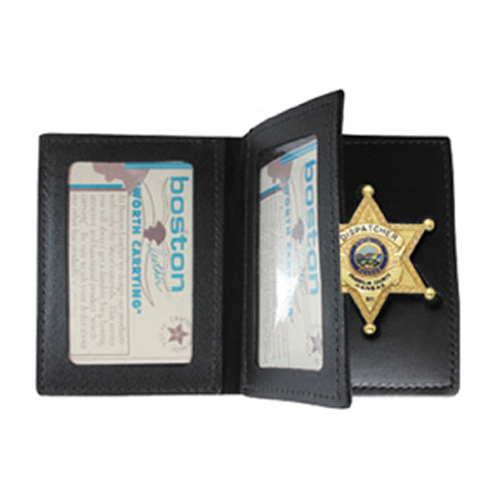 Model 122 Book Style Badge Case W/ 2 Id Windows
