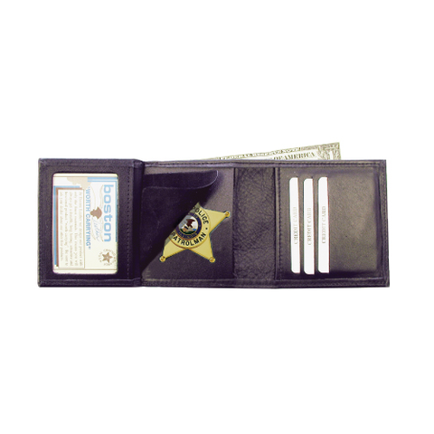 Tri-Fold Badge Case Wallet
