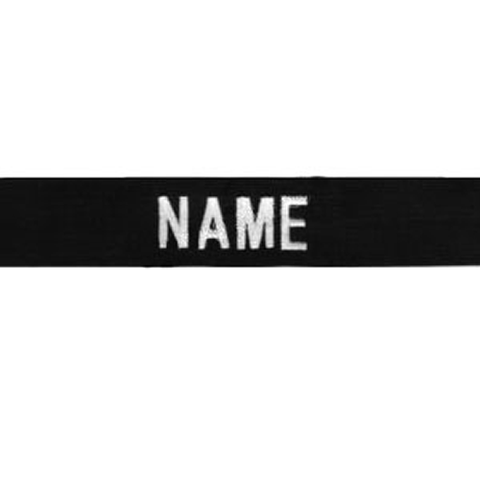 Responder Name Tape Black