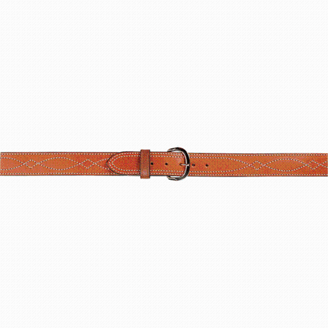 "AKER - B13 1.75"" LEATHER LINED FANCY STITCH BELT"