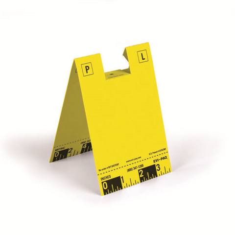 Disposable ID Tents, Yellow, Pack of 100