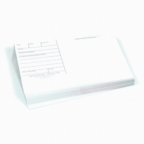 3X5 LATENT PRINT CARDS, WHITE