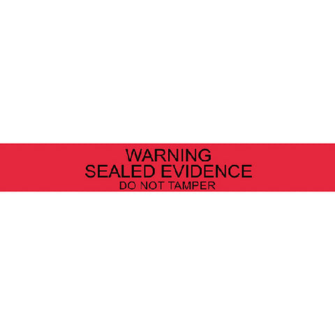 "7"" RED WARNING SEALS (100)"