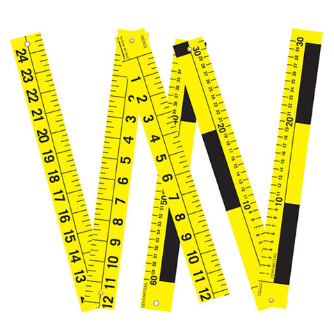 3-PART FOLDING SCALE, METRIC