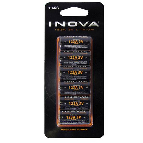 Lithium CR 123 6 Pack Batteries