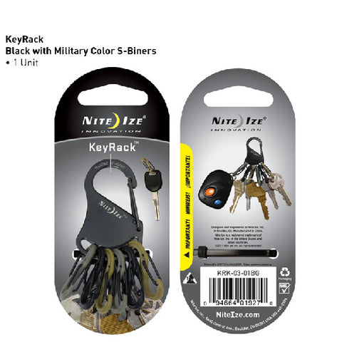 Key Rack Black w-Military SBP0
