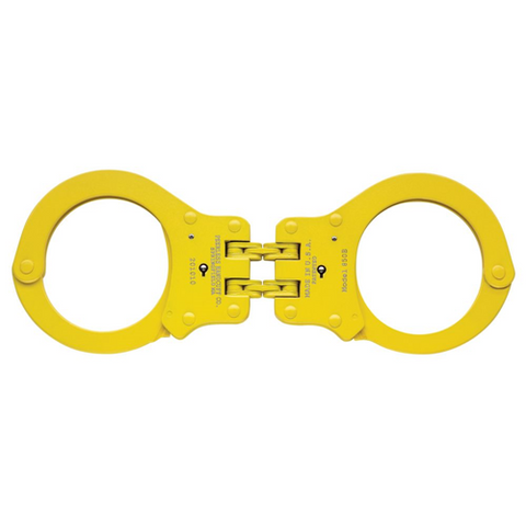 850CY Colored Hinged Handcuff, Yellow