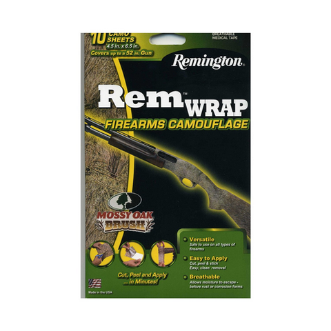 "Rem Wrap 3M Breathable Camo Wrap      (Covers up to a 52"" gun = 10 sheets) REALTREE MAX-4"