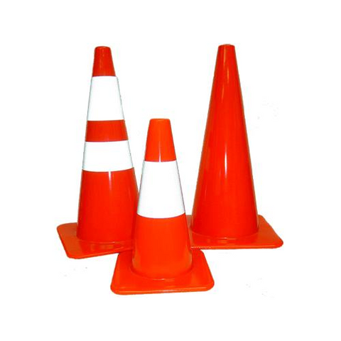 "5 pack of the 28"" traffic cones"