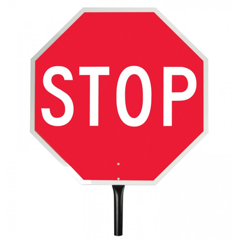 "PADDLE SIGN 18""-STOP-REFLECT"