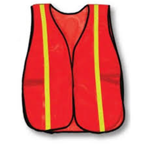"SOFT VEST REFLECTIVE - 1"" LIME"