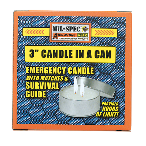 "Mil-Spec 3"" Candle in a Can"