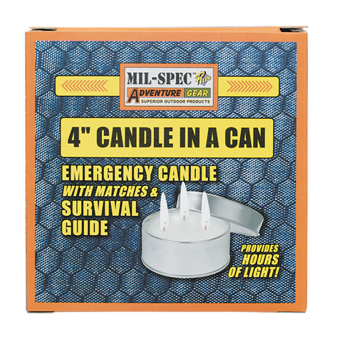"Mil-Spec 4"" Candle in a Can"