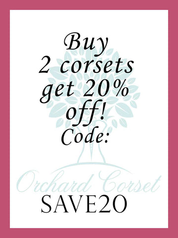 buy two corsets get 20% off coupon code SAVE20