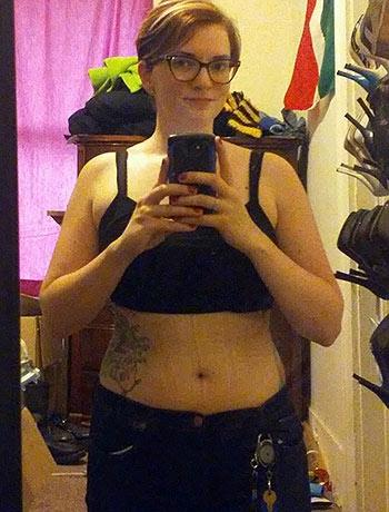 Eryn customer photo of after waist training results with weight loss