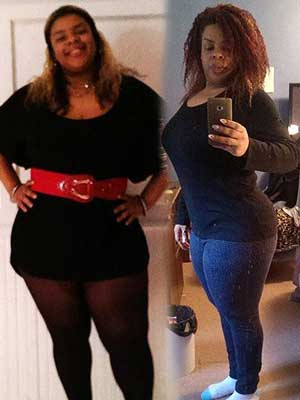 corset customer photos before and 1 year after waist training
