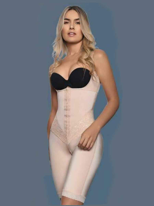 117 vedette body shaper in nude underbust thigh slimming and torso shaping and smoothing