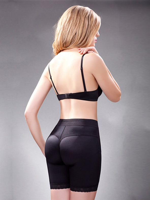 Model wearing our Vedette 159 shaping brief rear view