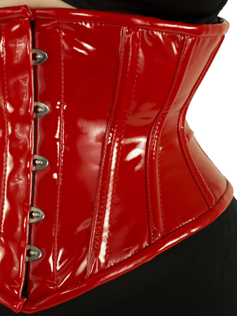 High Quality  Waist reducing PVC lack Black corset available in different color