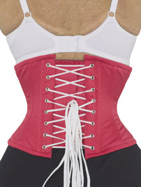 Underbust Raspberry Pink Cotton Corset - Limited Edition (CS-201)