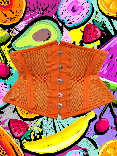 NEW cs219 romantic curve corset in limited edition color papaya orange