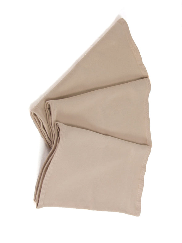 Three beige seamless bamboo corset liners