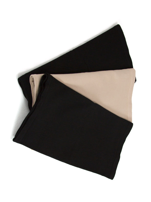 Two black and one beige seamless bamboo corset liners