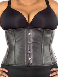 Plus Size Underbust Leather Corset (CS-305)