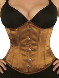 Limited Edition Underbust Bronze Satin Corset (CS-345)