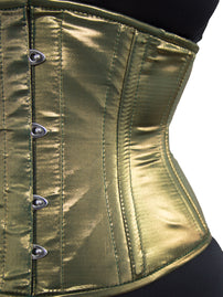 Limited Edition Sublime Green Gold Holographic Satin Standard Corset (CS-411 Standard)