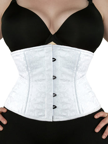1fc46945f4 Underbust Limited Edition White Brocade Corset (CS-411 Standard) ...