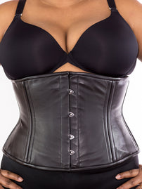 Plus Size Underbust Leather Standard Corset (CS-411 Standard)