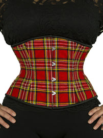 Steel-Boned Underbust Plaid Corset (CS-411)