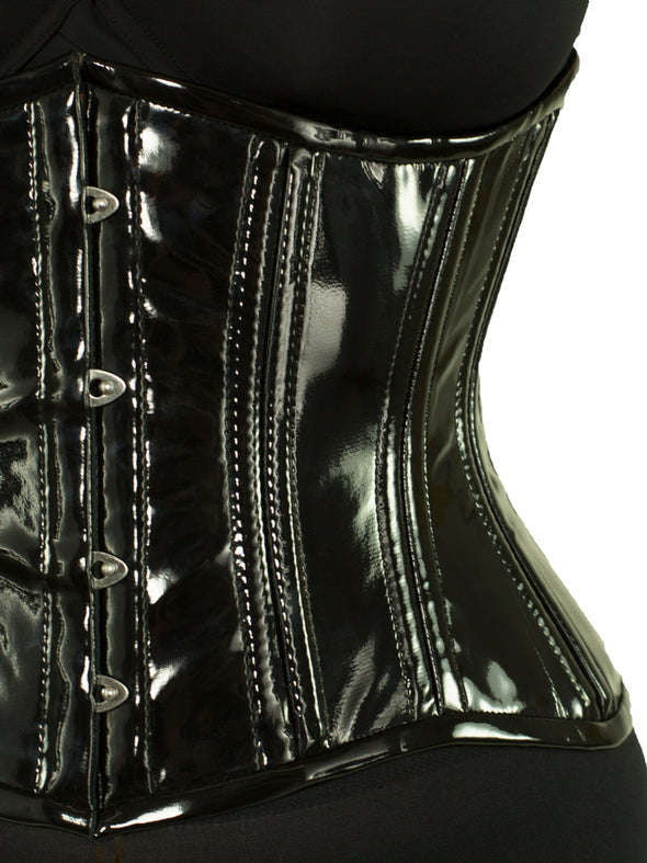 Close up of black PVC to show shine