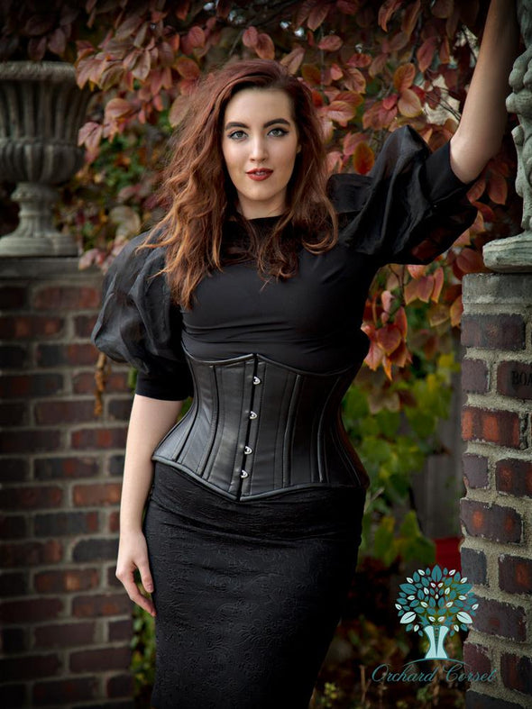 cs426 plus size leather hourglass curve standard underbust corset