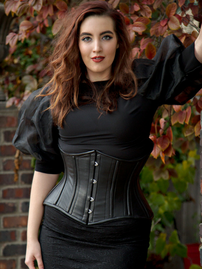 Steel-Boned Short Underbust Leather Corset (CS-426 Short Leather)