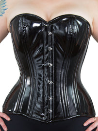 Limited Edition Black PVC Overbust Corset (CS-511)