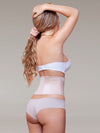 vedette 902 latex free beige waspie waist cincher back view