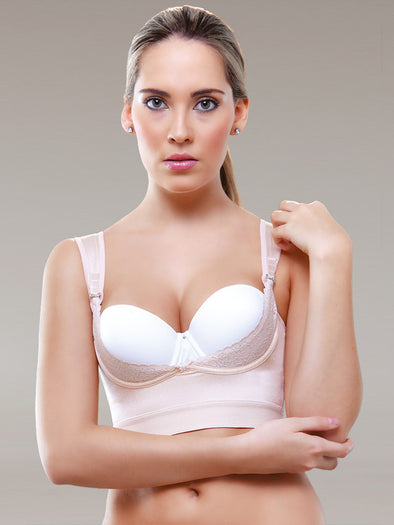 Beige Vedette 941 Underbust Bra Booster shapewear with straps for back fat smoothing