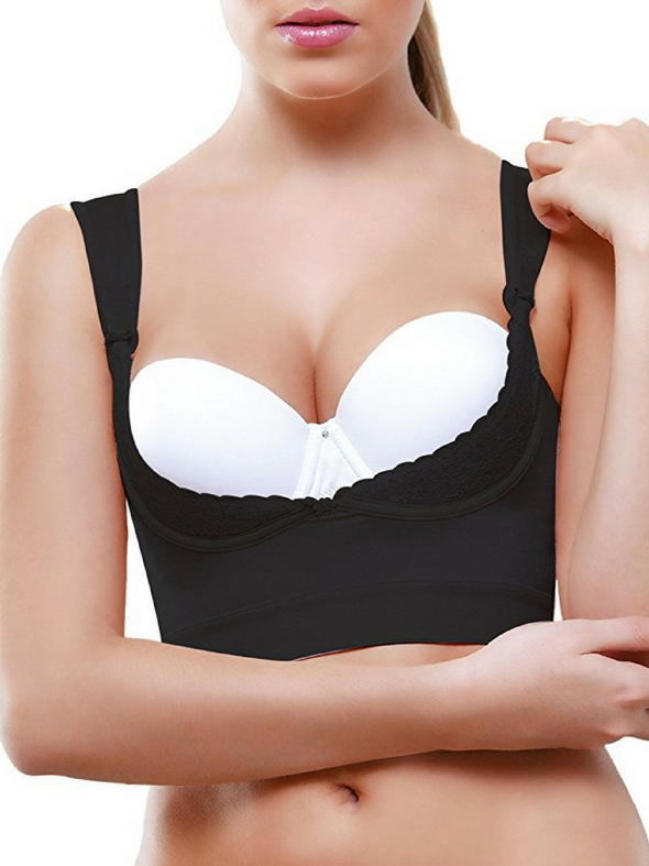 Vedette 941 Underbust Bra Booster shapewear in black for bust enhancing and back fat smoothing