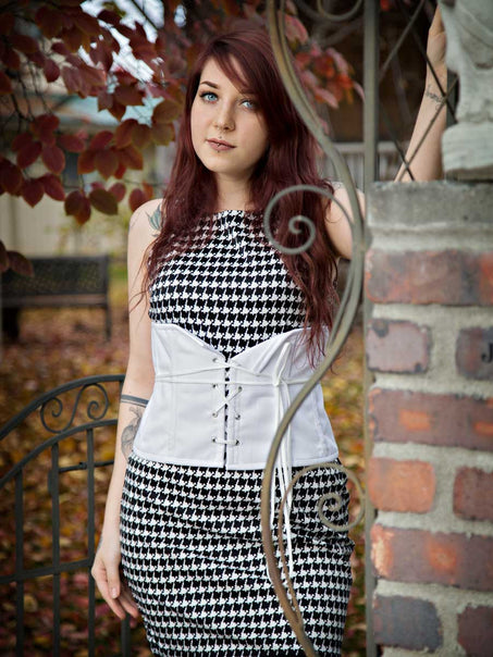 Authentic Front-Lacing Cotton Corset Belt (CB-901)