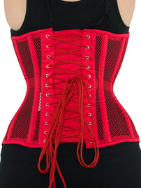 Limited Edition Mesh Overbust Red Corset (CS-511)