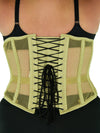plus sized 345 mesh steel boned waist training corset back view