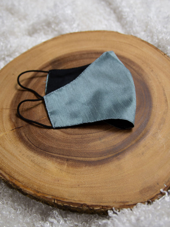 blue shantung face mask, free gift with purchase
