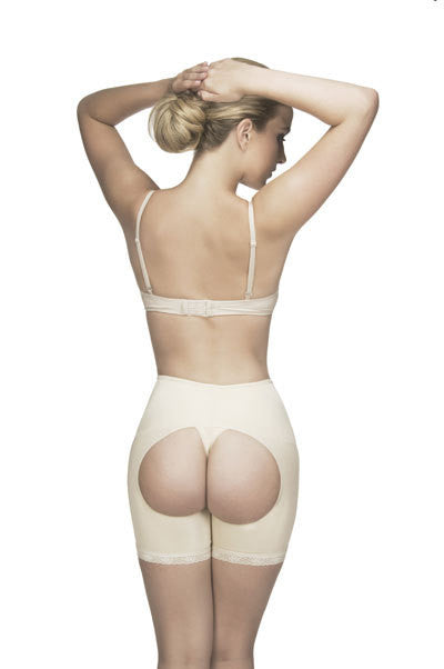 Vedette 505 Latex Mid Thigh Open Push Up Panty Girdle