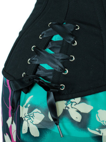 Short black corset laces for CS-426 with hip ties.