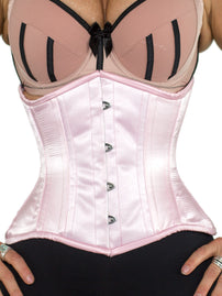 Underbust Light Pink Satin Corset (CS-426 Short)