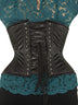 Steel-Boned Short Underbust Vegan Leather Corset (CS-426 Short Vegan)