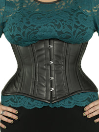 Steel-Boned Short Underbust Vegan Leather Corset (CS-426 Short)